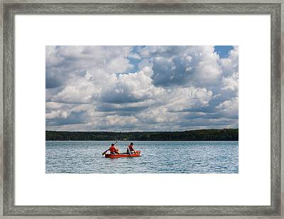Canoeing In Riding Mountain National Park Framed Print