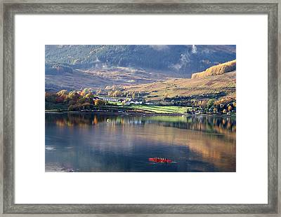 Framed Print featuring the photograph Canoeing On Loch Goil by Lynn Bolt