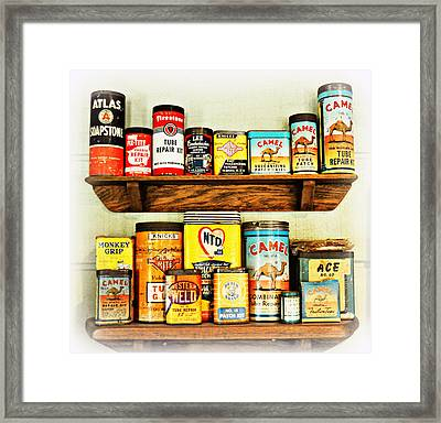 Cans Of Old Framed Print by Marty Koch