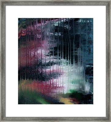 Can't See The Forest For The Rain Framed Print