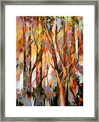 Framed Print featuring the painting Cant See The Forest For The Trees by Rae Andrews