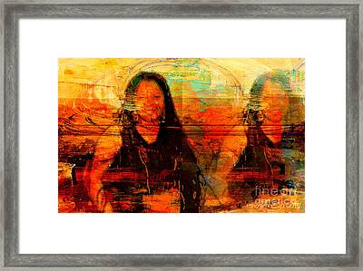 Can't Split Me In Two Framed Print by Fania Simon