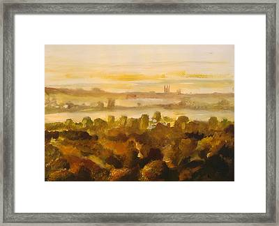 Canterbury Autumnal Haze Framed Print by Paul Mitchell