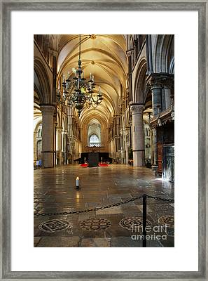 Canterbury Cathedral Aisle Framed Print