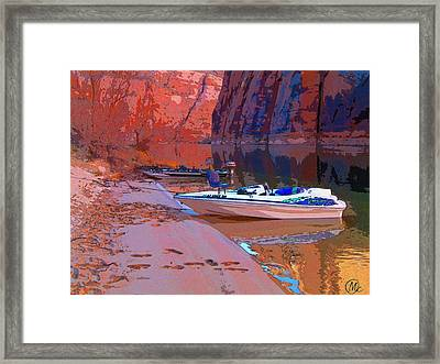 Framed Print featuring the photograph Canyon Boating by Mary M Collins