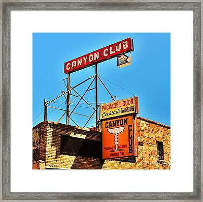 Canyon Club Route 66 Williams Arizona Framed Print by George Sylvia