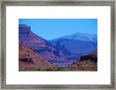 Canyon Colors Framed Print