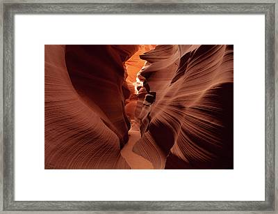 Canyon Contours Framed Print