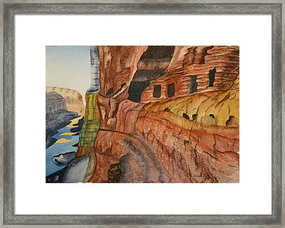 Framed Print featuring the painting Canyon De Chilly by Teresa Beyer