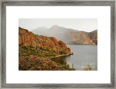 Framed Print featuring the photograph Canyon Lake by Tam Ryan