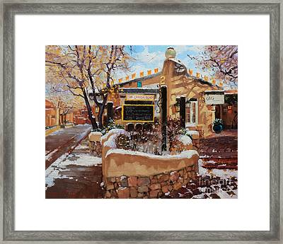 Canyon Road Winter Framed Print by Gary Kim