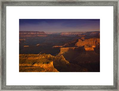 Canyon Shadows Framed Print