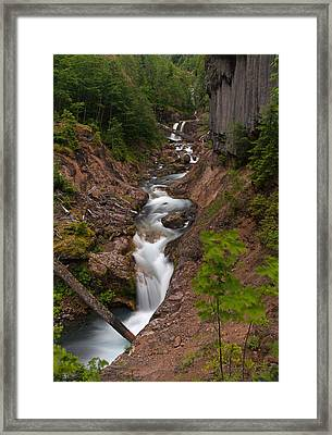 Canyon Stream Framed Print by Mike Reid