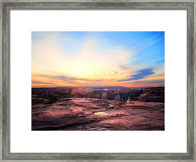 Canyon Sunset Framed Print by Ric Soulen