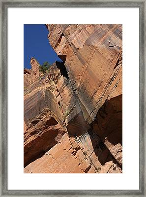 Framed Print featuring the photograph Canyon Walls by Marta Alfred