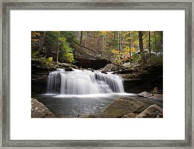 Canyon Waterfall Framed Print by David Troxel