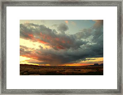 Canyonlands Sunset Framed Print by William Joseph