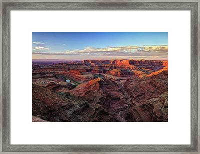Canyons Of The Colorado Framed Print