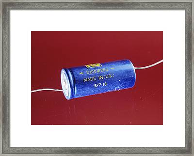 Capacitor Framed Print by Andrew Lambert Photography
