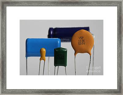 Capacitors Framed Print by Photo Researchers