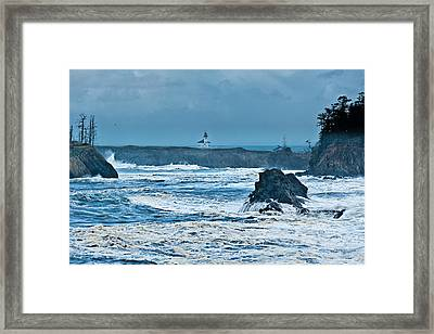 Cape Arago Light House Framed Print by Alvin Kroon
