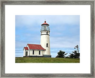 Framed Print featuring the photograph Cape Blanco Lighthouse by Nick Kloepping