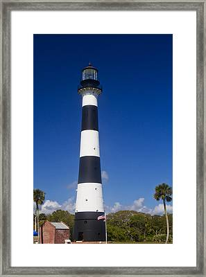 Cape Canaveral Lighthouse 2 Framed Print by Roger Wedegis