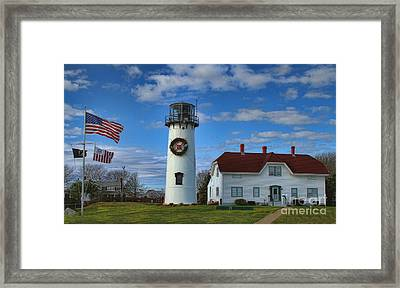 Framed Print featuring the photograph Cape Cod Chatham Lighthouse by Gina Cormier