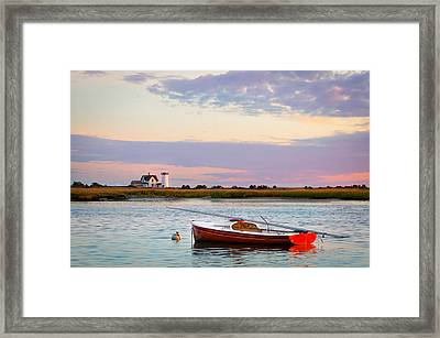 Cape Cod Lighthouse Framed Print by Betty Wiley
