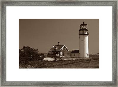 Cape Cod Lighthouse Framed Print by Skip Willits