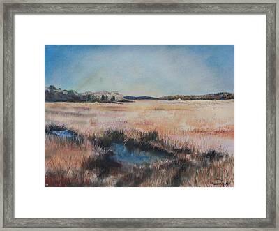 Cape Cod Marsh Framed Print by Geoffrey Workman