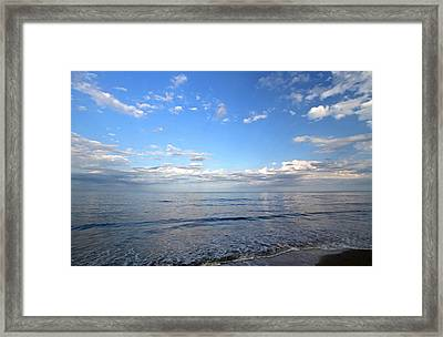 Cape Cod Summer Sky Framed Print