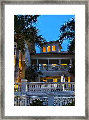Framed Print featuring the photograph Cape Coral Florida Architecture by Timothy Lowry