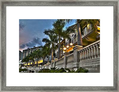 Framed Print featuring the photograph Cape Coral Marina And Resort by Timothy Lowry