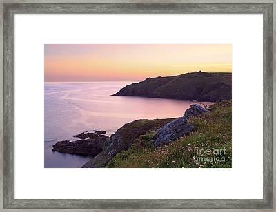 Cape Cornwall To Kenidjack Castle Framed Print