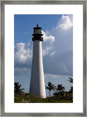 Cape Florida Lighthouse Framed Print by Ed Gleichman