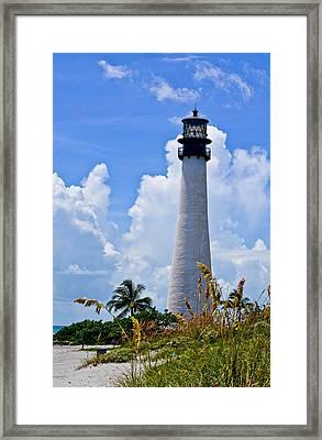 Cape Florida Lighthouse Framed Print by Julio n Brenda JnB