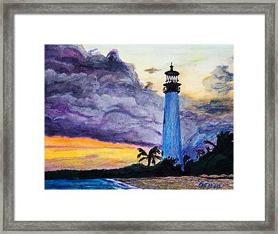 Cape Florida Lighthouse Framed Print by Roger Wedegis