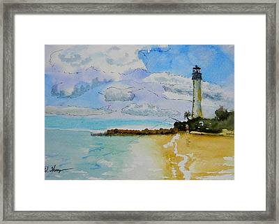 Cape Florida Lighthouse Framed Print by Warren Thompson