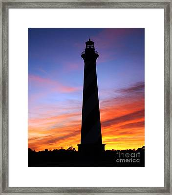 Framed Print featuring the photograph Cape Hatteras Sunset by Tony Cooper