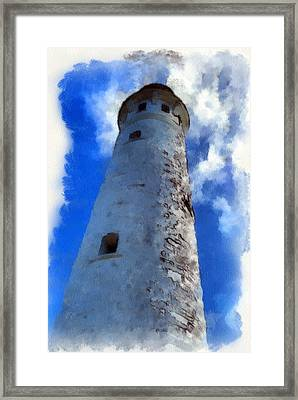 Framed Print featuring the digital art Cape Leeuwin Lighthouse by Roberto Gagliardi