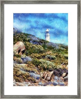 Framed Print featuring the digital art Cape Leeuwin by Roberto Gagliardi