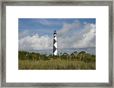 Cape Lookout Light Framed Print