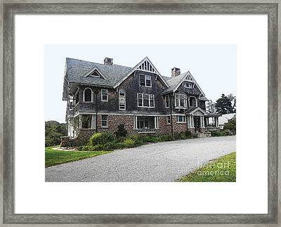 Framed Print featuring the digital art Cape Mansion by David Klaboe