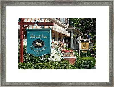 Cape May Bed And Breakfast Framed Print by John Greim