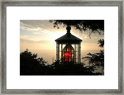 Cape Meares At Sunset Framed Print