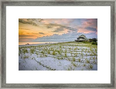 Cape San Blas Sunset Framed Print by Ray Devlin