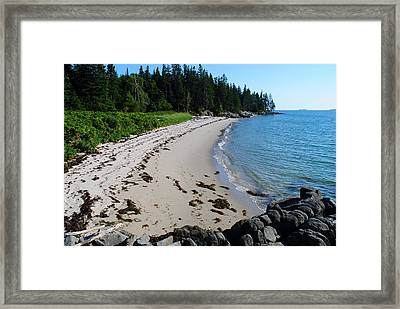 Cape Split Maine Framed Print by Steven Scott