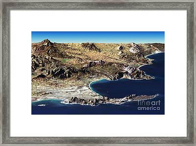 Cape Town Framed Print by NASA / Science Source