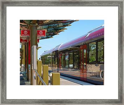Capital Metro Rail Austin Texas Framed Print by James Granberry